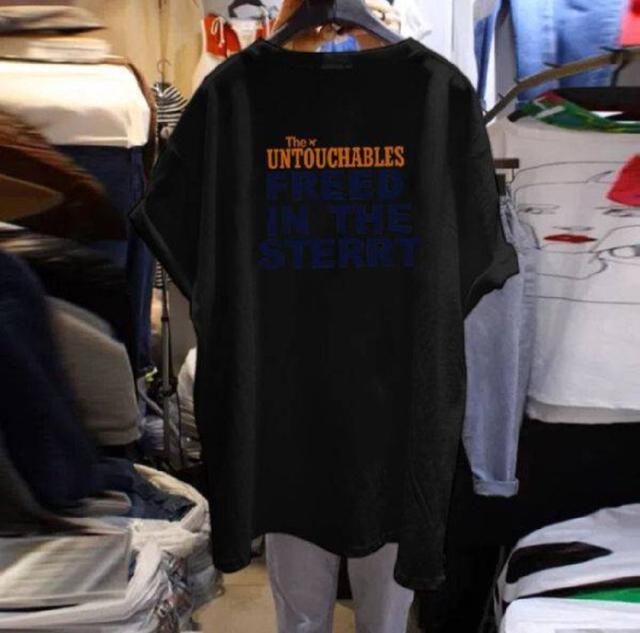 『預購』韓版字母中長上衣