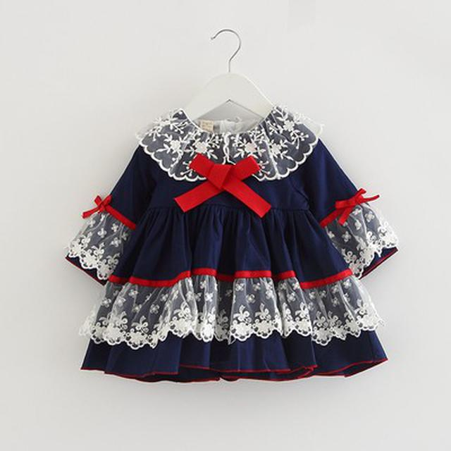 預購-女寶寶西班牙風連衣裙(l)