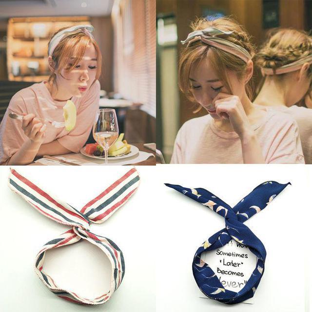 韓版 可愛兔耳髮飾