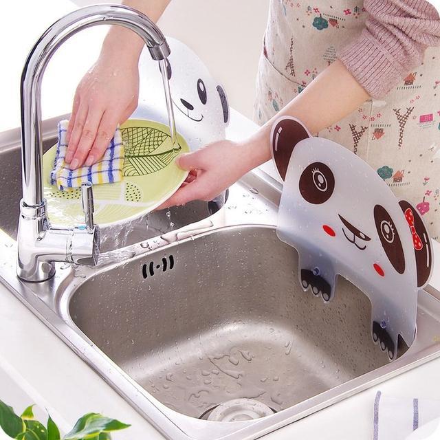 (預購) 熊貓造型廚房水槽擋水板