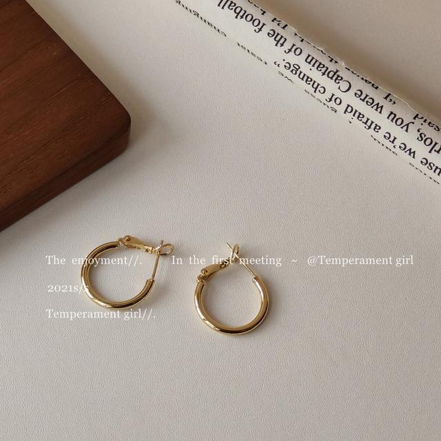 925銀針復古港風2021年新款潮耳環網紅 耳釘韓國簡約耳圈個性耳飾
