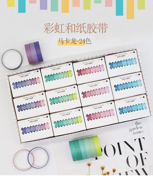 (L)預購 馬卡龍和紙膠帶-可愛韓國少女心 3盒一組