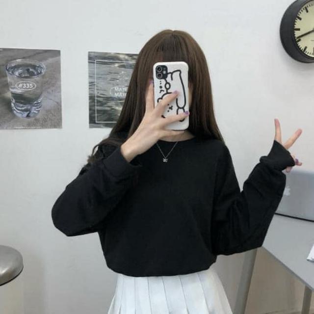 #預購K345 - 韓國東大門小心機後綁帶蝴蝶結薄款長袖衣