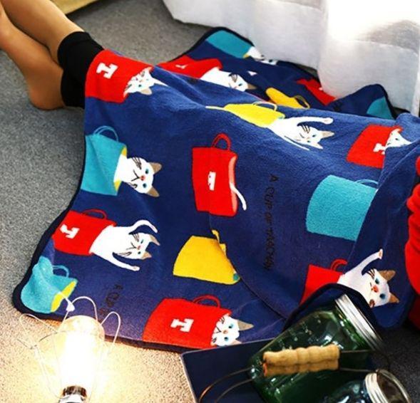 預購商品11/26結單  卡通多圖案法蘭絨毛毯