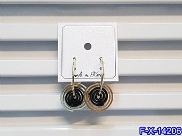 三層金屬螺旋C型珍珠耳圈 耳環   耳針 韓式