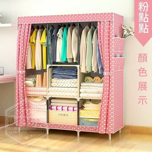 ☘️ 大容量加高防塵衣櫥架