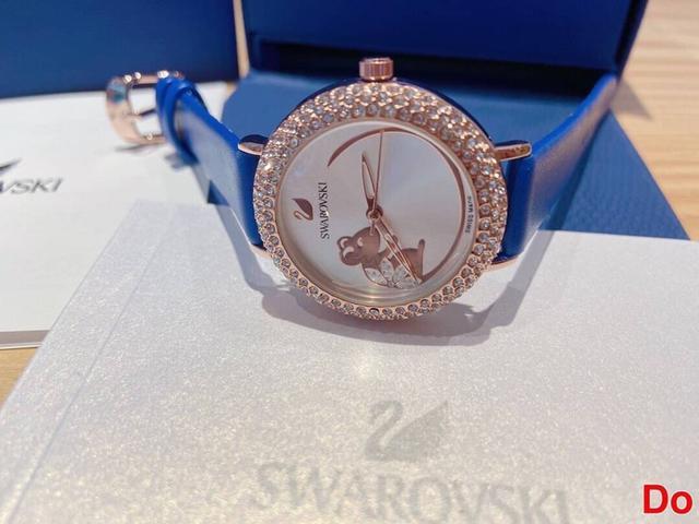 【新品】施華洛世奇 COSMIC ROCK 施華洛世奇「福鼠🐭」進口石英機芯手錶類