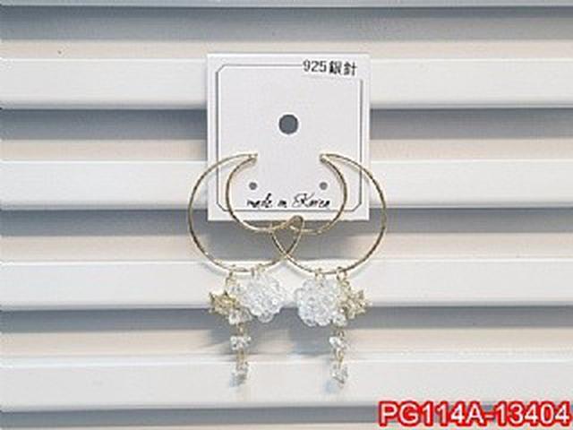 正韓S925純銀 鏤空月亮水晶球流蘇耳環   耳針 韓式