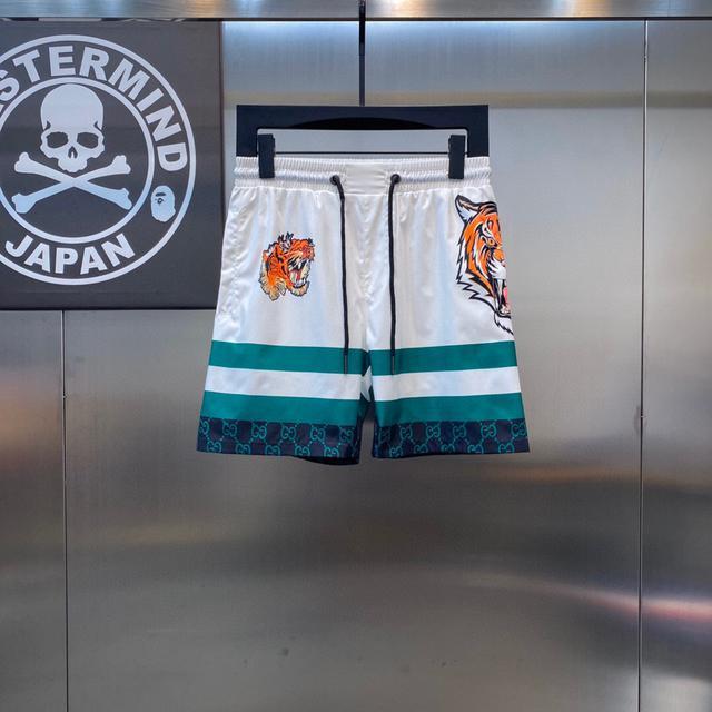 【男生精品短褲】2021新款沙灘褲 速乾五分短褲 M-3XL
