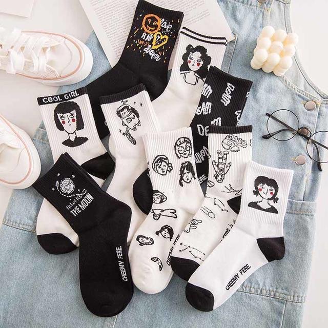 【沐莱🌙】日韓系列襪少女襪 簡約風格(九款)