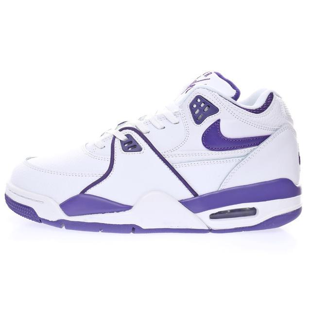 耐克Nike 飛行兄弟89系列中幫復古休閒運動文化籃球「皮革白紫」CN0050-101