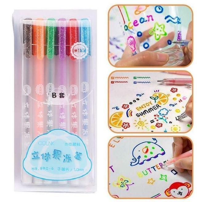 #預購超可愛QQ果凍筆6支/盒