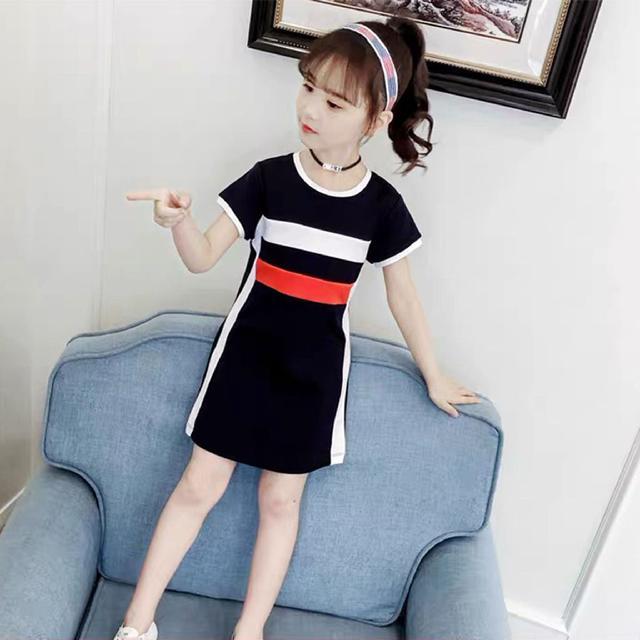 夏季~簡約短袖連衣裙(預購)