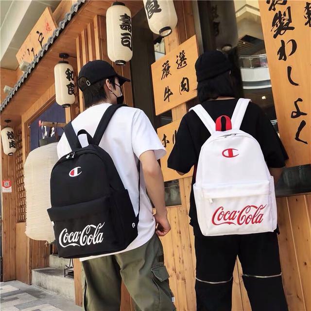 新款日版champion冠军联名❌可口可乐双肩包书包