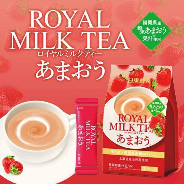 日本 日東紅茶 季節限定皇家奶茶 草莓風味 10入 140g