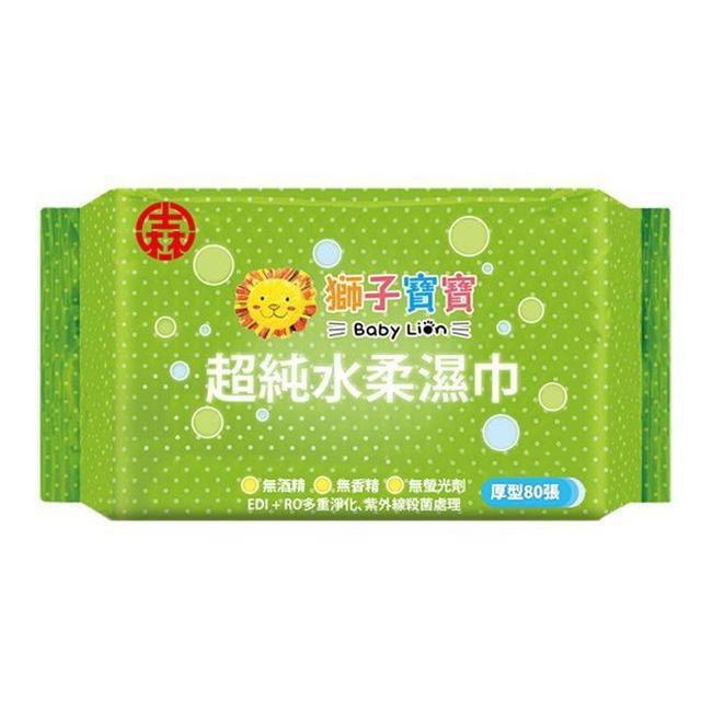 【獅子寶寶】濕紙巾 無蓋80抽 (12包/箱)