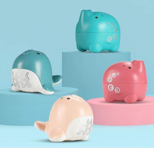 (預購S) 可愛動物水滴花灑戲水玩具(一組2個)
