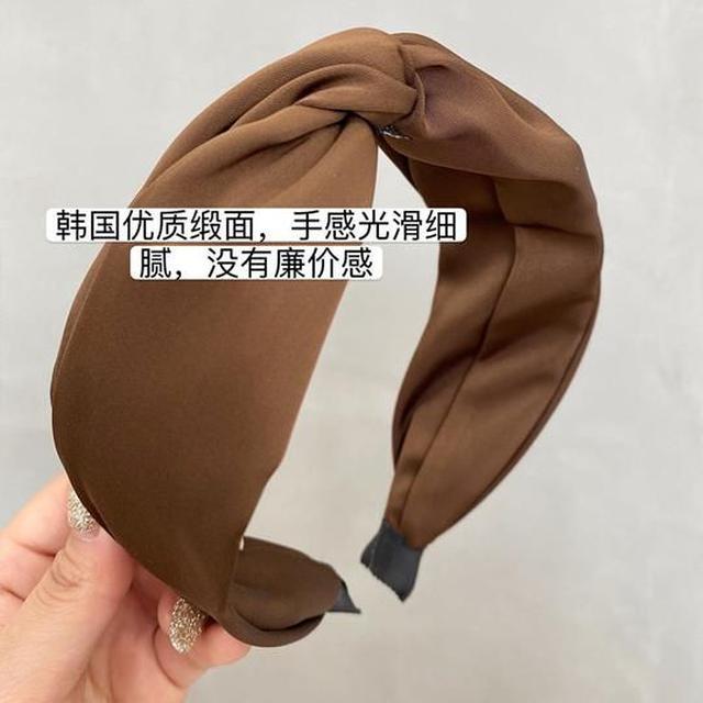 預購#韓國東大門髮箍簡約氣質交叉扭搭寬版壓發發卡時髦外出頭飾頭箍新