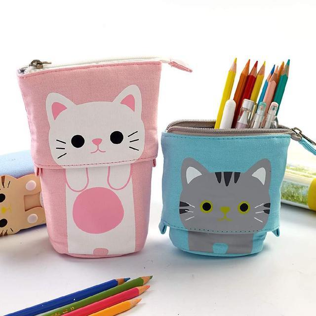 (預購s+) A464-可愛貓咪伸縮筆袋