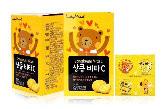 預購  韓國 Lucky Moral 維生素c咀嚼片 112片/盒