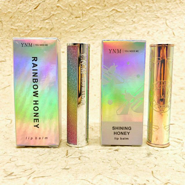 韓國 Y.N.M RAINBOW HONEY 星空 溫感變色潤唇膏 / 蜜蜂玫瑰金 新款按壓版