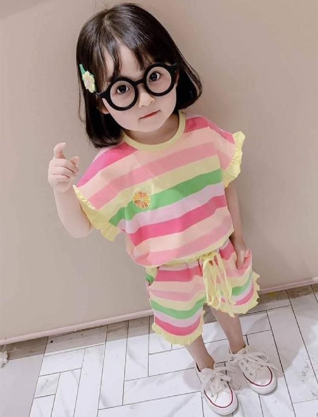 【現貨】彩虹條紋休閒套裝