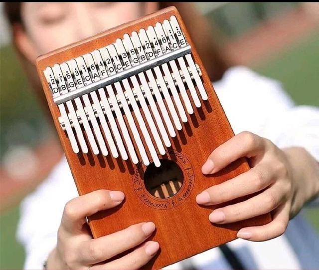 卡林巴琴  17音拇指琴單板桃花芯木