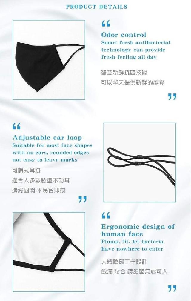 (預購S) B080 - 銀離子抗菌防護3D布口罩