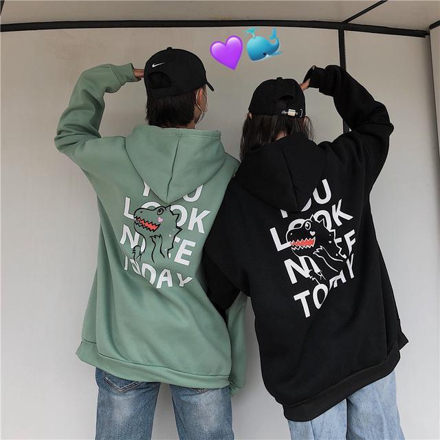 11 流行款 M-2XL 韓版時 情侶連帽衛衣(4色)