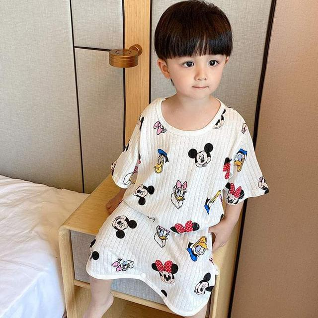 (預購S) B082 - 兒童卡通防踢被護肚空調連身衣