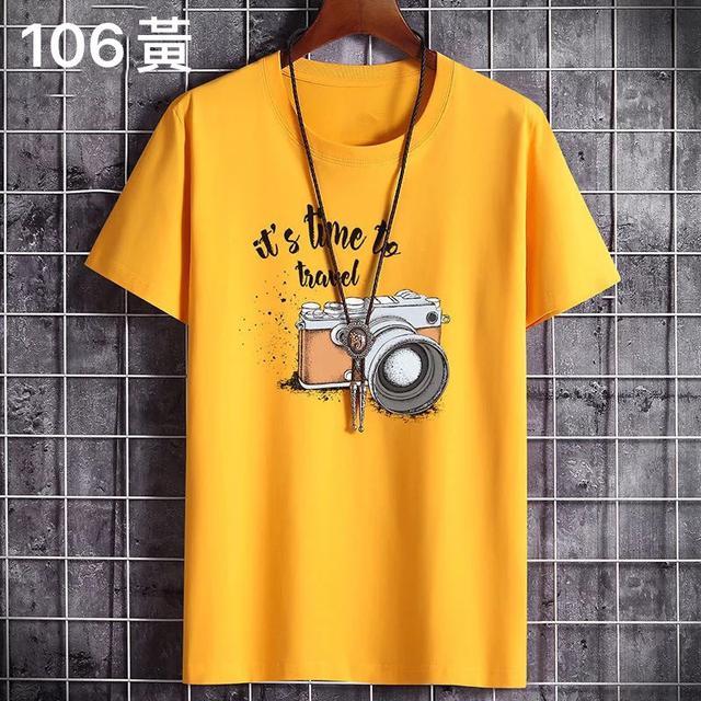 (106系列)100%純棉短袖T恤男士夏季2020新款韓版潮流寬松體恤衫上衣男衣服