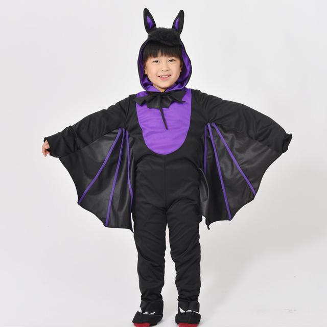 預購萬聖節新款兒童服装cosplay舞台表演演出小蝙蝠紫色蝙蝠装 (舞)