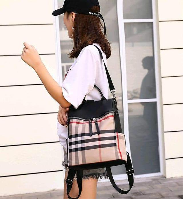 (預購S) 韓國百搭時尚經典格紋配色肩後背包