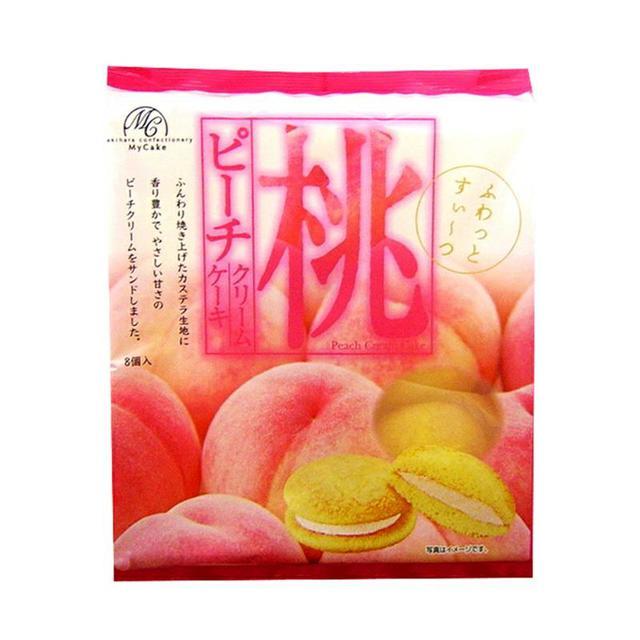日本柿原 水蜜桃鮮奶蛋糕150g 8入