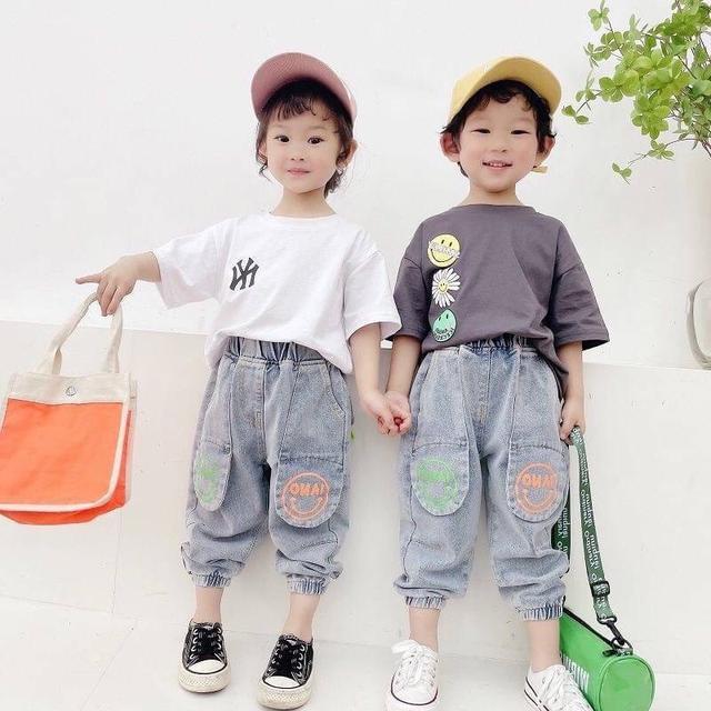 KD06-03 韓版卡通牛仔褲