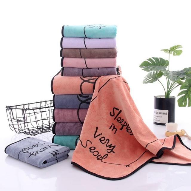 超柔珊瑚絨印花浴巾