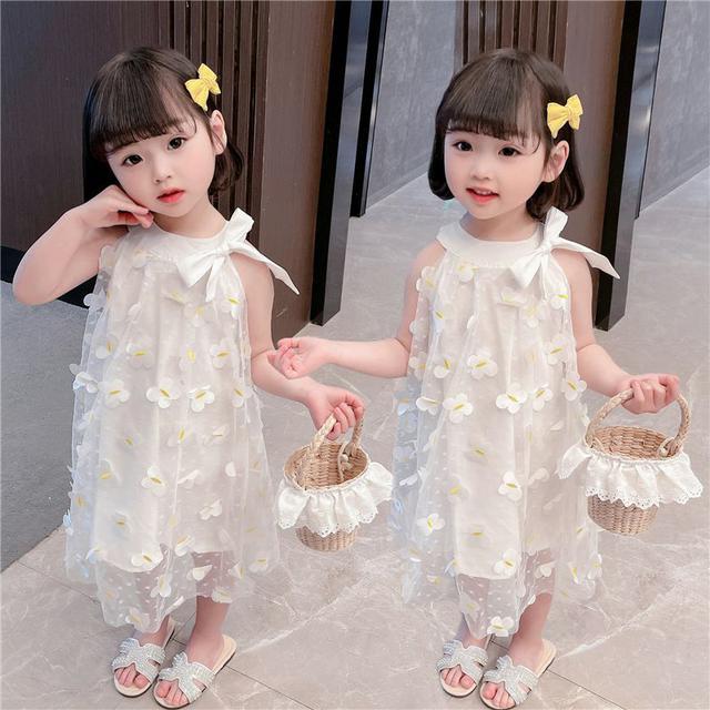 女童公主裙夏裝2021新款蝴蝶連衣裙洋氣夏季連衣裙