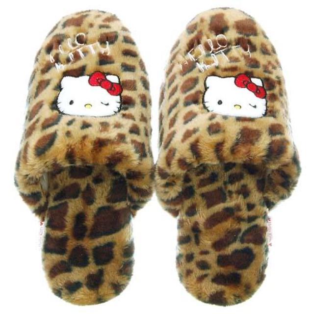 日本🇯🇵三麗鷗 kitty 豹紋室內拖鞋