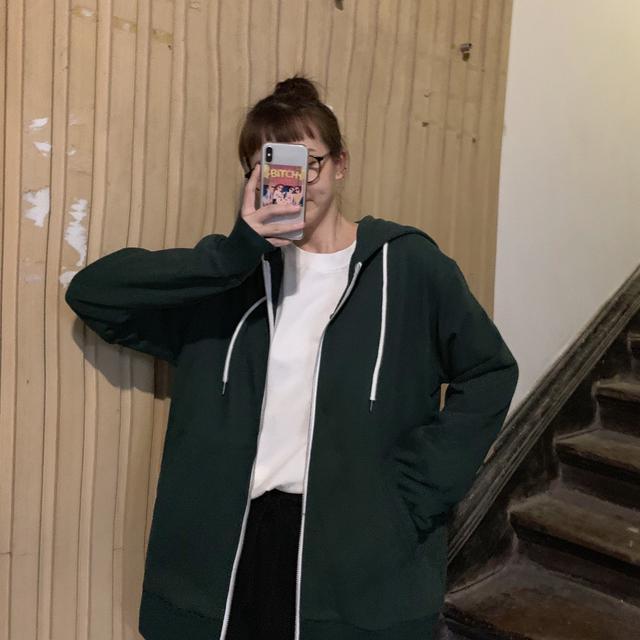 11 慵懶風連帽拉鍊衛衣外套(2色)