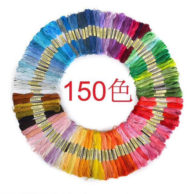 150色十字繡線支線 刺繡線8米/支 熱賣DIY線150色
