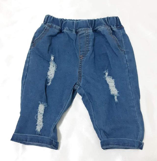 【現貨】兒童刷破牛仔五分褲