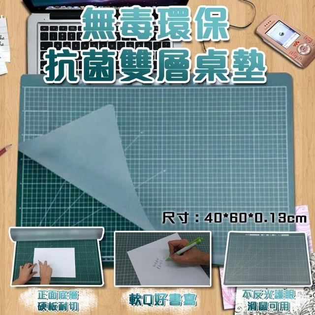 台灣iMAT學生必備無毒環保抗菌雙層桌墊