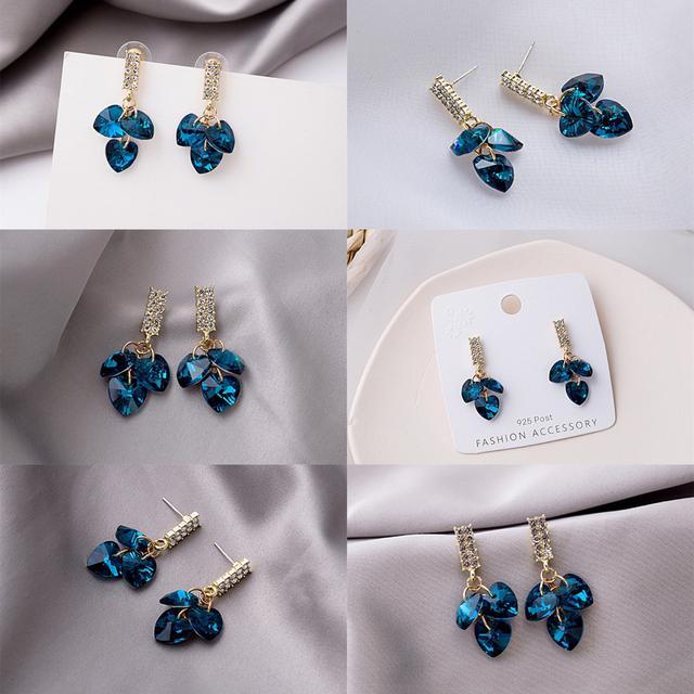 預購奢華鑲鑽水晶鋯石耳環