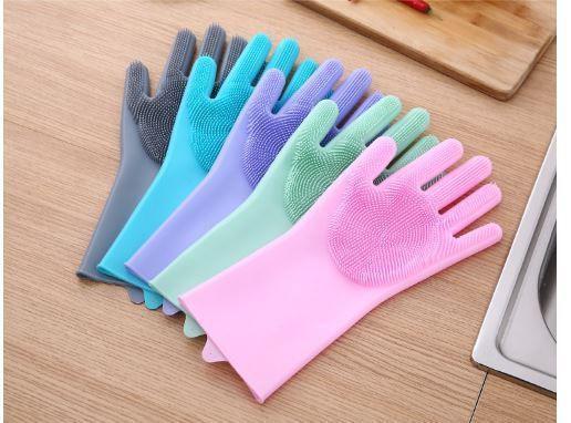 (預購e) 正韓國矽膠 洗刷刷手套