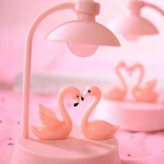 可愛粉色火烈鳥小夜燈樹脂兒童節日禮品禮物LSJ19073010