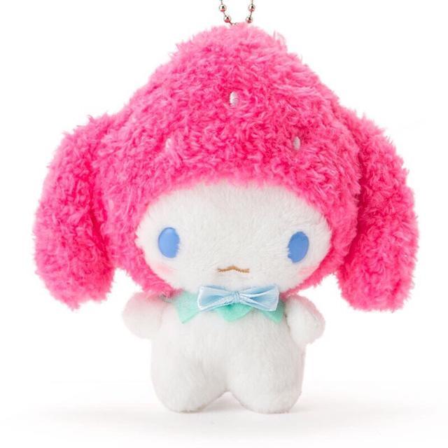現貨 日本 大耳狗 草莓造型 吊飾 娃娃 工作
