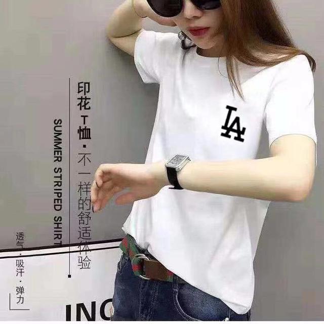 2020純棉短袖T恤寬松休閒白色新款簡約網紅 尺寸m~3xl