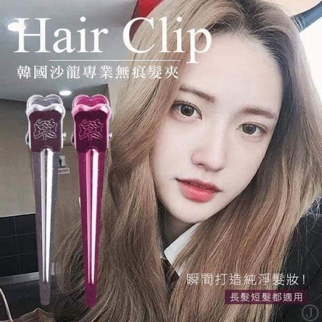 預購  韓國 elisix 6 沙龍專業無痕髮夾4入/組