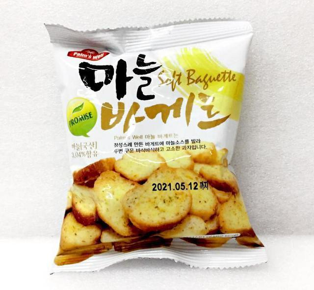 韓國 大蒜麵包脆片 40g
