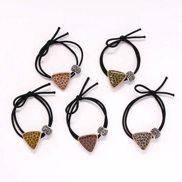 🌟現貨🌟豹紋幾何三角髮束